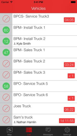 mobile application for gps fleet tracking